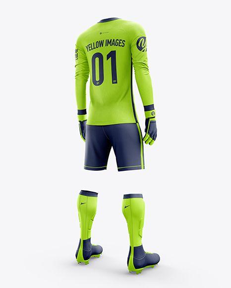 Download Men S Full Soccer Goalkeeper Kit Mockup Hero Back Shot In Apparel Mockups On Yellow Images Object Mockups Goalkeeper Kits Clothing Mockup Shirt Mockup
