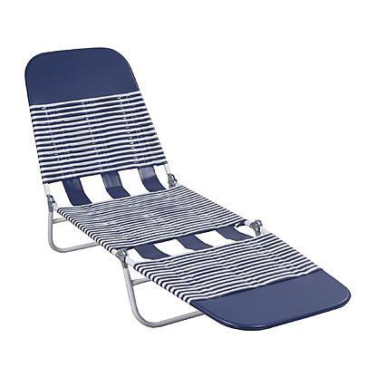 Essential Garden Essential Garden Pvc Chaise Lounge Blue Chaise Lounge Outdoor Furniture Sun Lounger