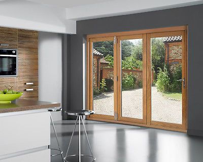 Openvu Classic Oak Folding Sliding Patio Door Set 7ft External Folding Doors Ebay Bifold Patio Doors Folding Patio Doors Hinged Patio Doors