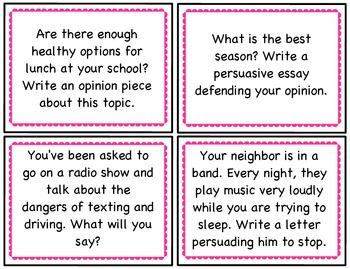 {FREE!} Persuasive Writing Prompts