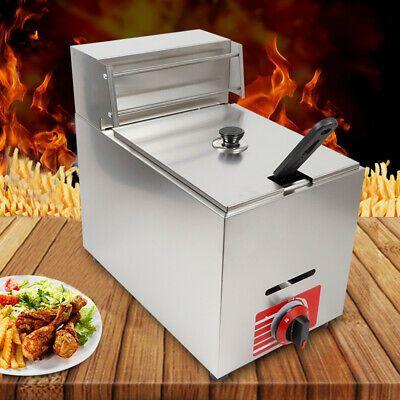 Ad Ebay Commercial Countertop Gas Fryer 1 Basket Deep Fryer 10l