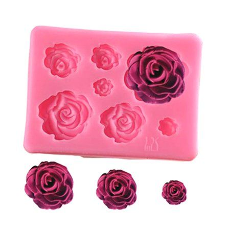 Fancyleo 3d Silicone Cake Mold Decorating Rose Flower Soap Candy Chocolate Mould Image 1 Of 2 Cake Molds Silicone Chocolate Candy Molds Candy Molds