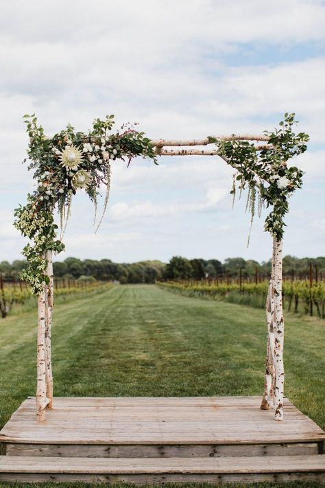 Remarkable Choosing Your Wedding Flowers Idea Wedding Decorations Custom Wedding Arbor - I can make gorgeous arbors for your wedding, we can do custom designs, engrave your name, initials, or a quote. This can be a great gift and one you will keep not j Wedding Arbor Rustic, Birch Wedding, Wedding Ceremony Flowers, Marquee Wedding, Farm Wedding, Ceremony Arch, Wedding Venues, Chic Wedding, Wedding Week