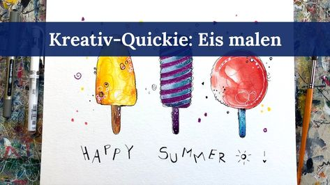 Kreativ Quickie 5 Eis Malen Ice Cream Painting Tutorial