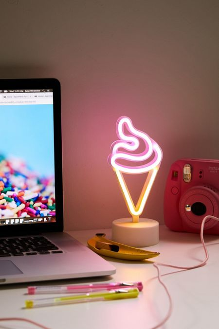 Ice Cream Mini Led Neon Table Lamp In 2020 Neon Led Neon Signs Mini Led Lights