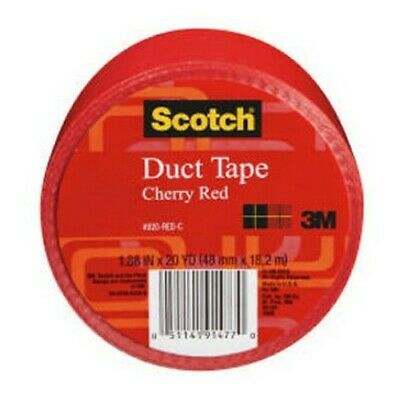 Details About 3m 920redc Duct Tape 1 88inx20yds Cherry Red In 2020 Duct Tape Tape Repair Tape