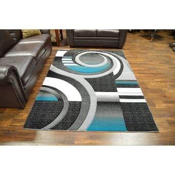 Aldridge Abstract Black Turquoise Area Rug In 2020 Modern Area Rugs Area Rugs Rugs