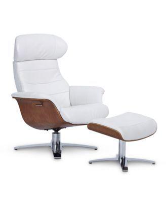 Fabulous Anniston 31 Leather Swivel Chair Recliner Ottoman Set In Uwap Interior Chair Design Uwaporg