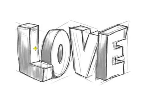 How To Draw 3d Love Graffiti Letters Youtube Skills In 2019