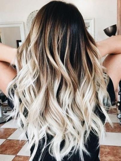 57 Trendy Hair Blonde Dip Dye Curls Hair Brunette Hair Color