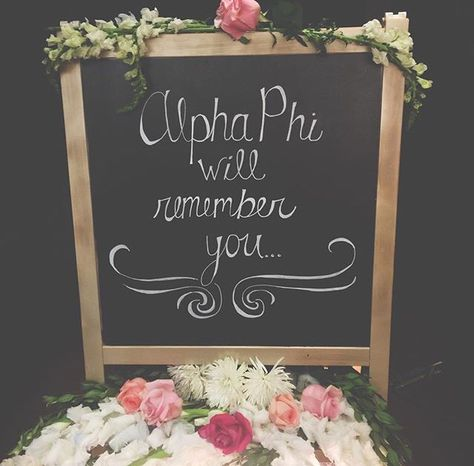 Preference ceremony decor #ASUAlphaPhi