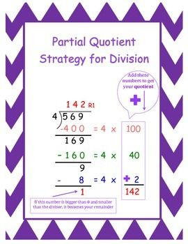 Partial Quotients Worksheets | Remainders, Multiplication and Division