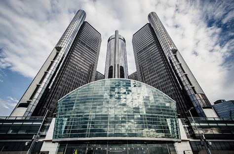 General Motors Renaissance Center Detroit By Steedsgraphicimages