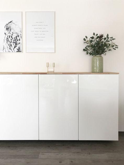Ikea Hack Metod Kuchenschrank Als Sideboard Ikea Schrank Weiss