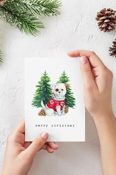 Free Christmas Watercolour Animals Printables Watercolor