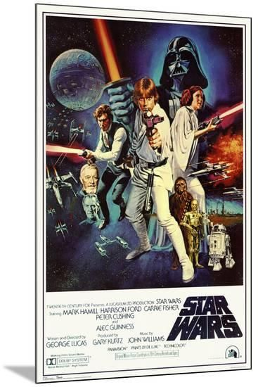 Star Wars Episode Iv New Hope Classic Movie Poster Mounted Print Allposters Com Star Wars Movies Posters Classic Movie Posters Movie Posters Vintage