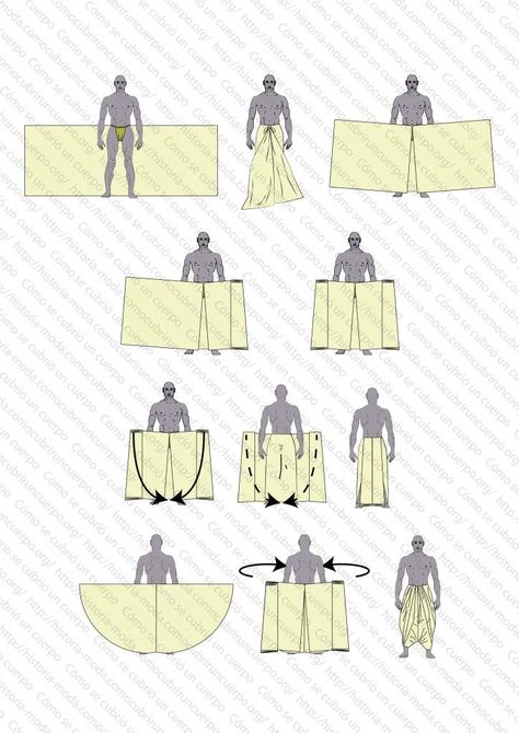 Diy clothes -  Clothes design -  Dhoti -  Wrap pants -  Mens fashion -  Mens outfits - How to put o