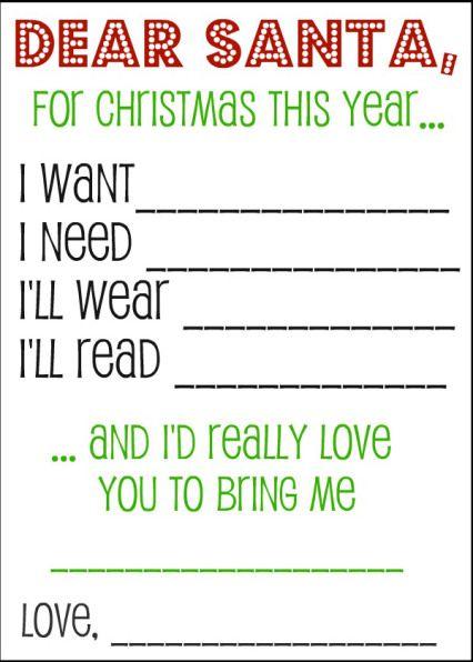 Christmas list to santa template turningtogodswordus – Printable Christmas List Template