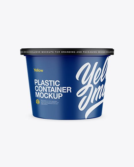 Download Transparent Plastic Container Mockup Yellowimages