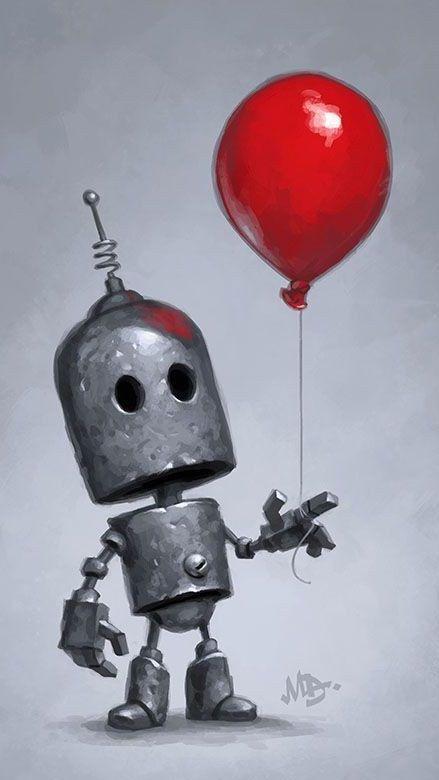 Robot 9 16 Arte Robot Ilustración De Robot Robot Caricatura