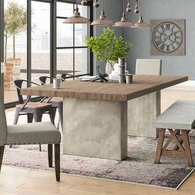 Trent Austin Design Pagosa Springs Oak Dining Table Size 30 H X 47 W X 94 L Dining Table Concrete Dining Table Custom Dining Tables