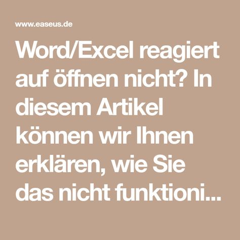 Word Excel Reagiert Auf Offnen Nicht In Diesem Artikel Konnen Wir Ihnen Erklaren Wie Sie Das Nicht Funktionierte Programm Zum Normalen Zustand Bringen Und Wor In 2020