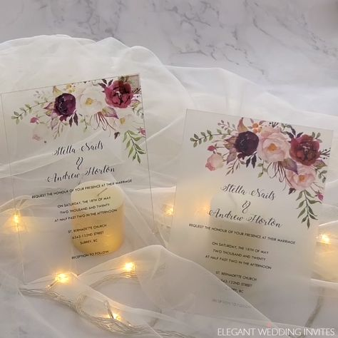 EWI Clear Acrylic Wedding Invitations