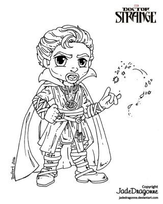 Dr Strange Lineart By Jadedragonne Coloring Pages Coloring Books Art Pages