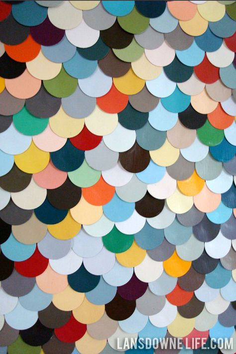 Repurposed paint chip scalloped wall art - Lansdowne Life