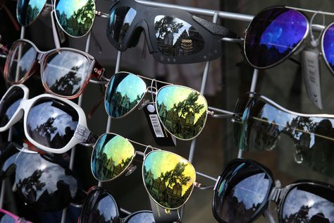 Reflecties in zonnebril