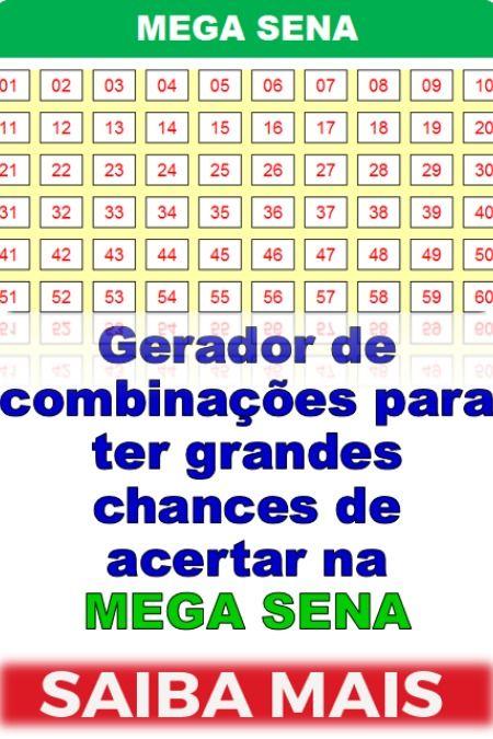 Mega Sena Gerador Combinacoes De Grupos Mega Sena Sena Ganhar Na Loteria
