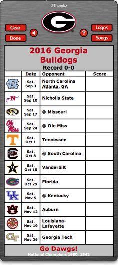 BACK OF MAC APP - 2016 Georgia Bulldogs Football Schedule App - Go Dawgs…
