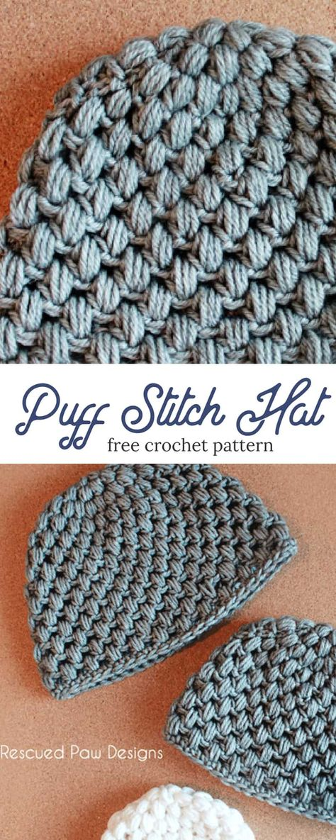 Puff Stitch Crochet Hat Pattern Free Crochet Pattern Crocheting