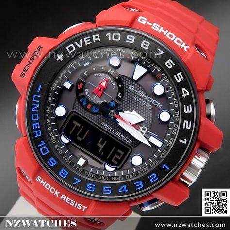 Casio G-Shock GULFMASTER Master of G Rescue Red Limited Watch GWN ... 7046ce38d0ff