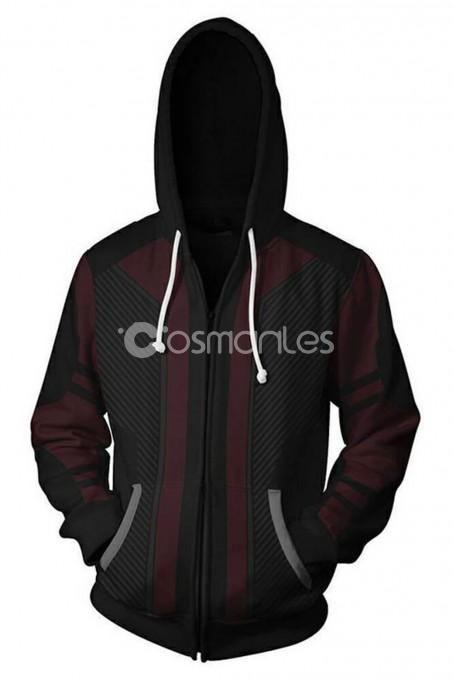 Avengers 3 Infinite War Hawkeye hoodie Sweatshirt Cosplay Costume zip up coat