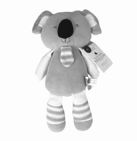 Living Textiles Knitted Toy Koko Koala 38 Cm In 2020 Spielzeug