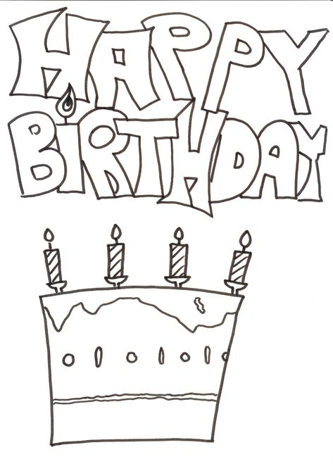 Ausmalbilder Geburtstag Zum Ausdrucken Ausmalbilder