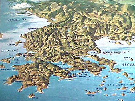 Topographical Map Of Greece Greece Tourism Greece Greece Travel