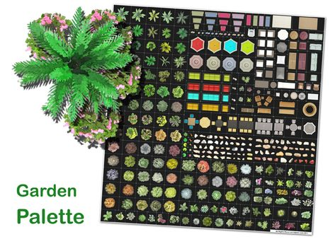 garden palette top view images of trees shrubs and furniture 05 photoshop pinterest