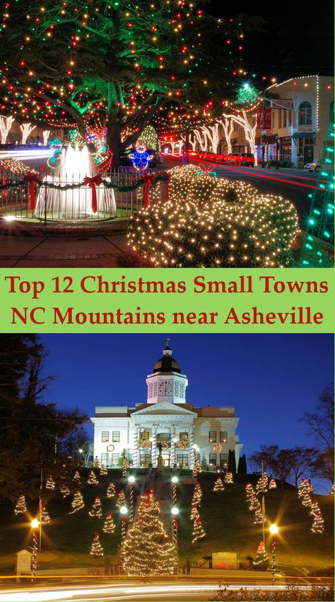 See our Top 12 Magical Christmas Towns in the North Carolina mountains near Asheville. See our Top 12 Magical Christmas Towns in the North Carolina mountains near Asheville. Maggie Valley North Carolina, Bryson City North Carolina, Ashville North Carolina, North Carolina Mountains, Snow In North Carolina, South Carolina, Christmas Place, Christmas Town, Christmas Travel
