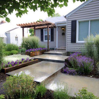 Modern Front Yard Landscaping interesting front yard deck with privacy wall - modern landscaping