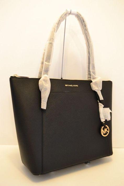 2805ba83509e NWT MICHAEL KORS CIARA LARGE EW TZ LEATHER TOTE in BLACK  fashion  clothing   shoes  accessories  womensbagshandbags ...