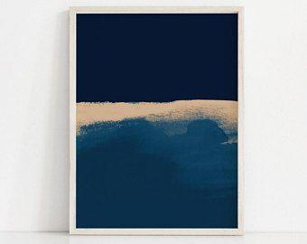 Modern Blue Art Print Abstract Blue Print Mixed Media Dark Blue Wall Art Abstract Prints Modern Art Abstract Modern Abstract Art Geometric Blue Modern Art