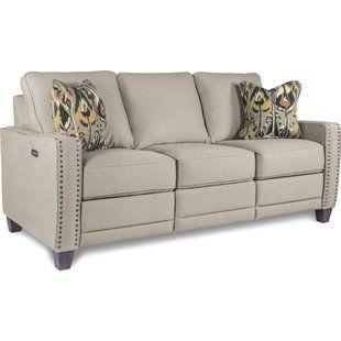 Fantastic Custom Upholstery Doug Reclining Sofa White White White Pabps2019 Chair Design Images Pabps2019Com