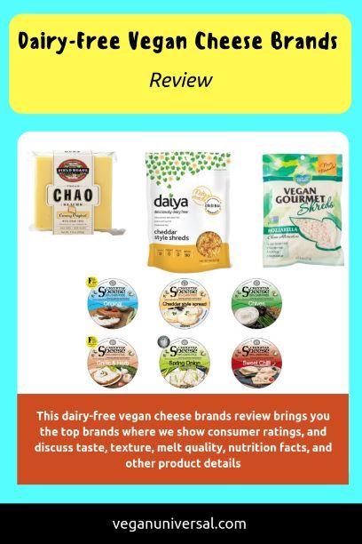 Dairy Free Vegan Cheese Brands Review Vegan Universal Vegan Cheese Dairy Free Cheese Brands