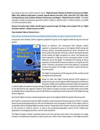 Flight Simulator Market Potential Market Opportunities
