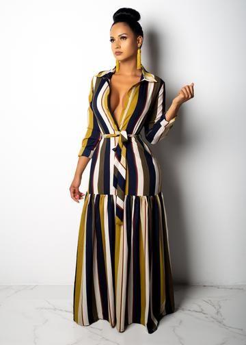 Multicolored Striped Maxi Dress Beaded Creations South Africa Maxi Dress Maxi Dresses Casual Striped Maxi Dresses