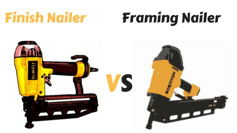 Finish Nailer Vs Framing Nailer Let S Know The Differences Finish Nailer Framing Nailers Nailer