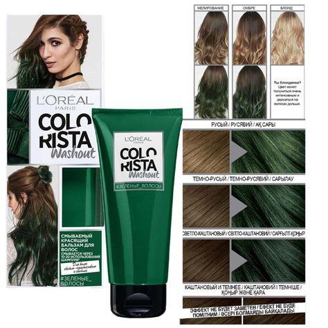 L Oreal Colorista Hair Dye Cream Denim Blue Turquoise Blue Thin L
