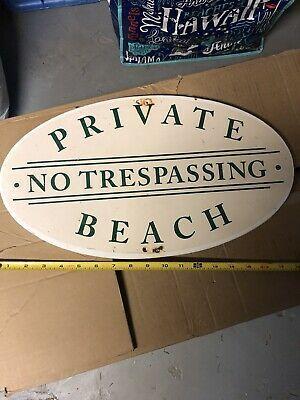 Private Beach Sign Fashion Home
